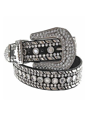 Rhinestone Studded Western Belt For Women