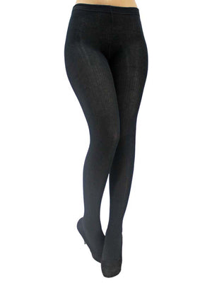 Black Thin Cable Knit Hosiery Tights