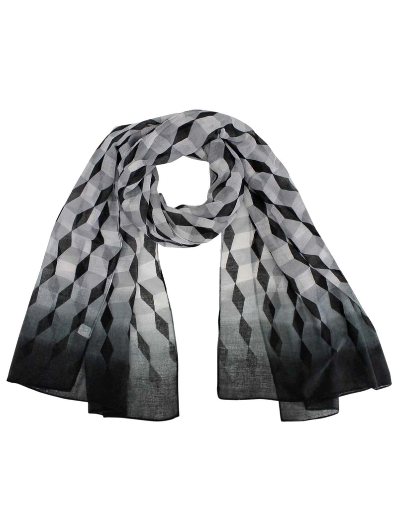 Black & White Ombre Diamond Print Wrap