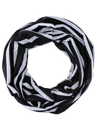 Striped Circle Infinity Lightweight Scarf