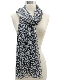 Animal Print Sheer Scarf Wrap