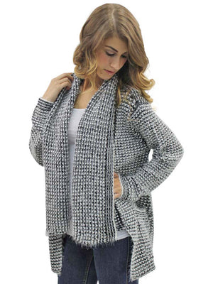 Black & White Fuzzy Cardigan