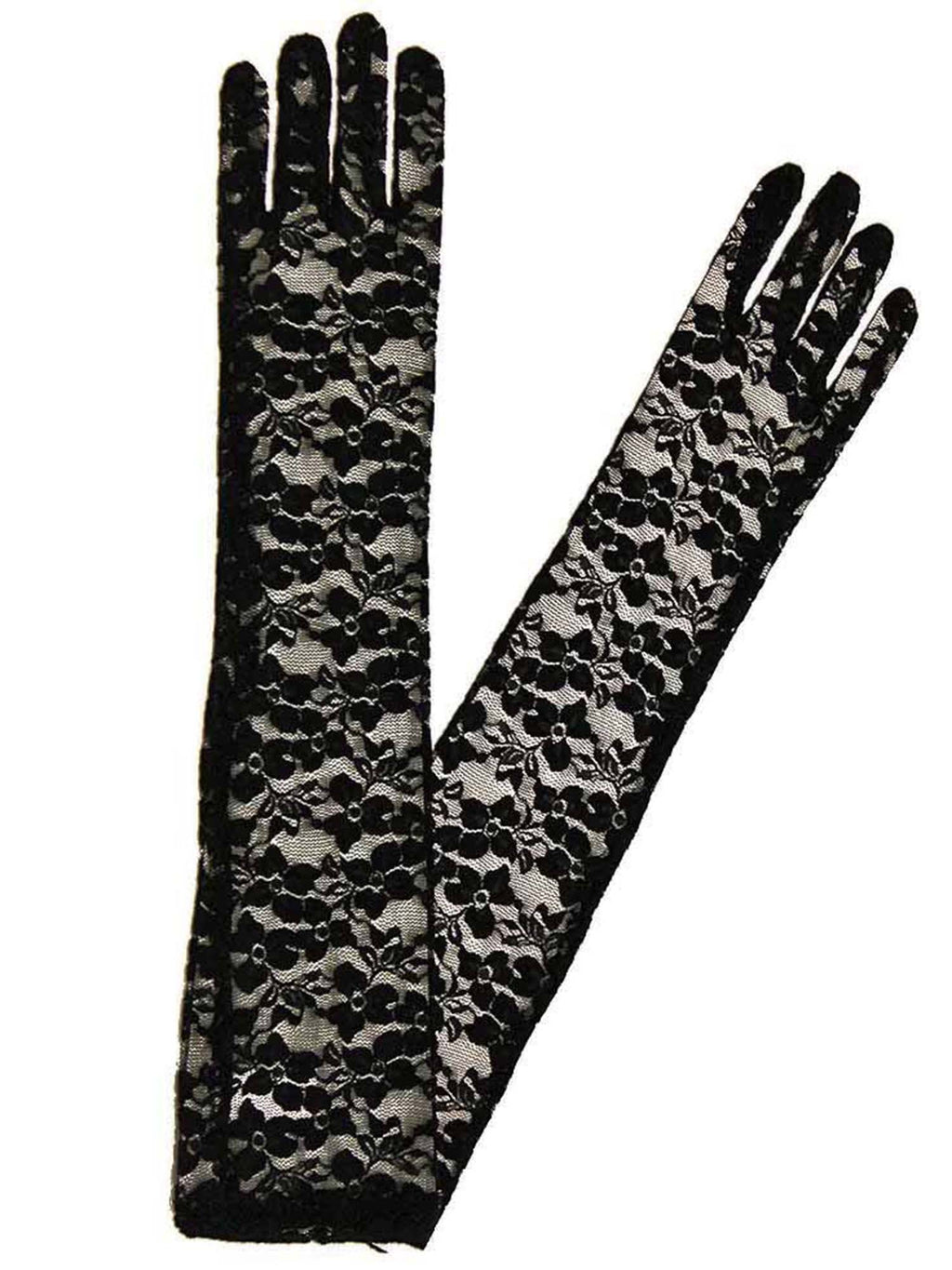 Full Length Formal Sheer Lace Opera Gloves