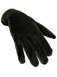 Black Velvet Wrist Length Womens Gloves
