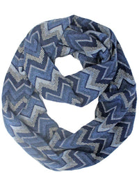 Chevron Striped Infinity Scarf