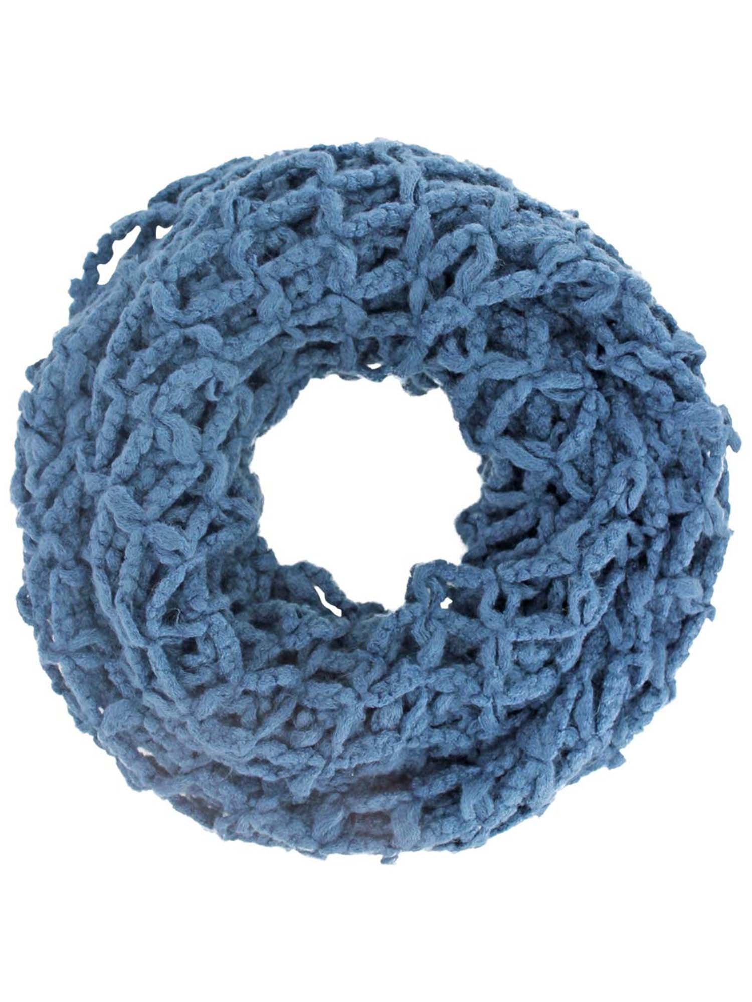 Open Caged Knit Winter Infinity Scarf