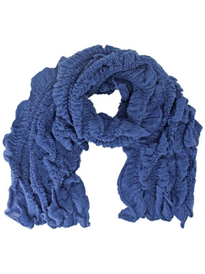 Lightweight Ruffle Textured Long Scarf