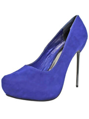 Stiletto Womens Faux Suede Platform Pumps