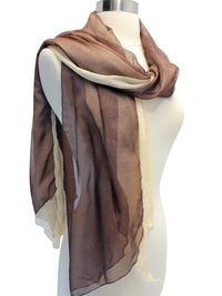 Double Layered Glitter Sheer Scarf