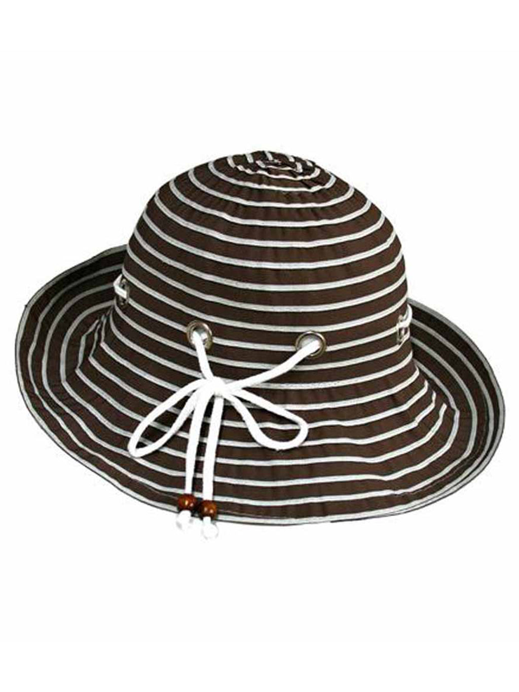 Brown Nautical Bucket Hat With Rope Hatband