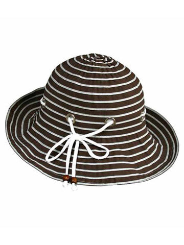 b71cddf426c Brown Nautical Bucket Hat With Rope Hatband ...
