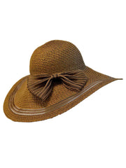 Sun Hat With Shear Trim And Bow