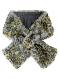 Faux Fur Plush Lined Neck Warmer Scarf