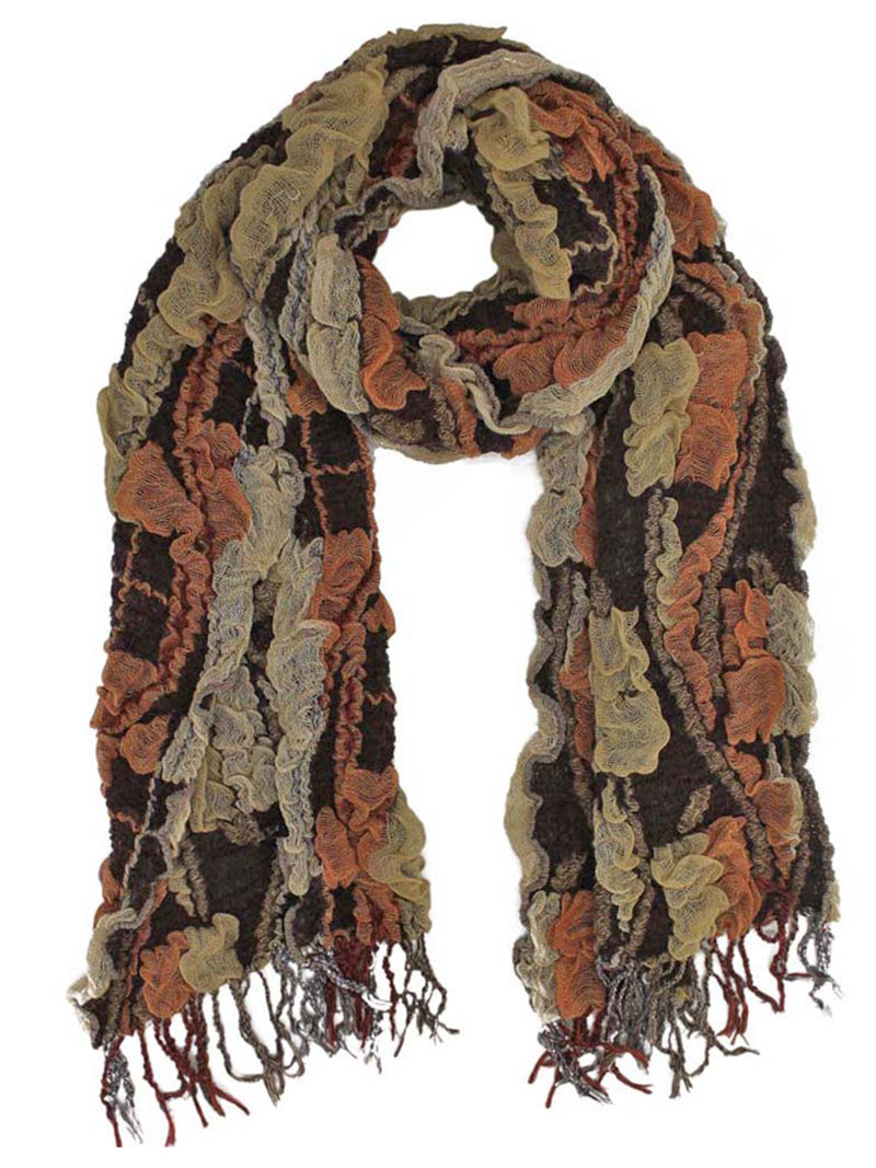 Textured Gauze Scarf Wrap