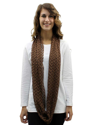 Sheer Chevron Lace Infinity Scarf
