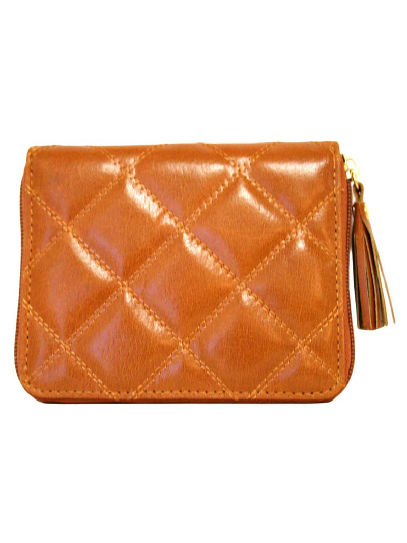 Quilted Buxton Zip Around Slim Cardex Wallet