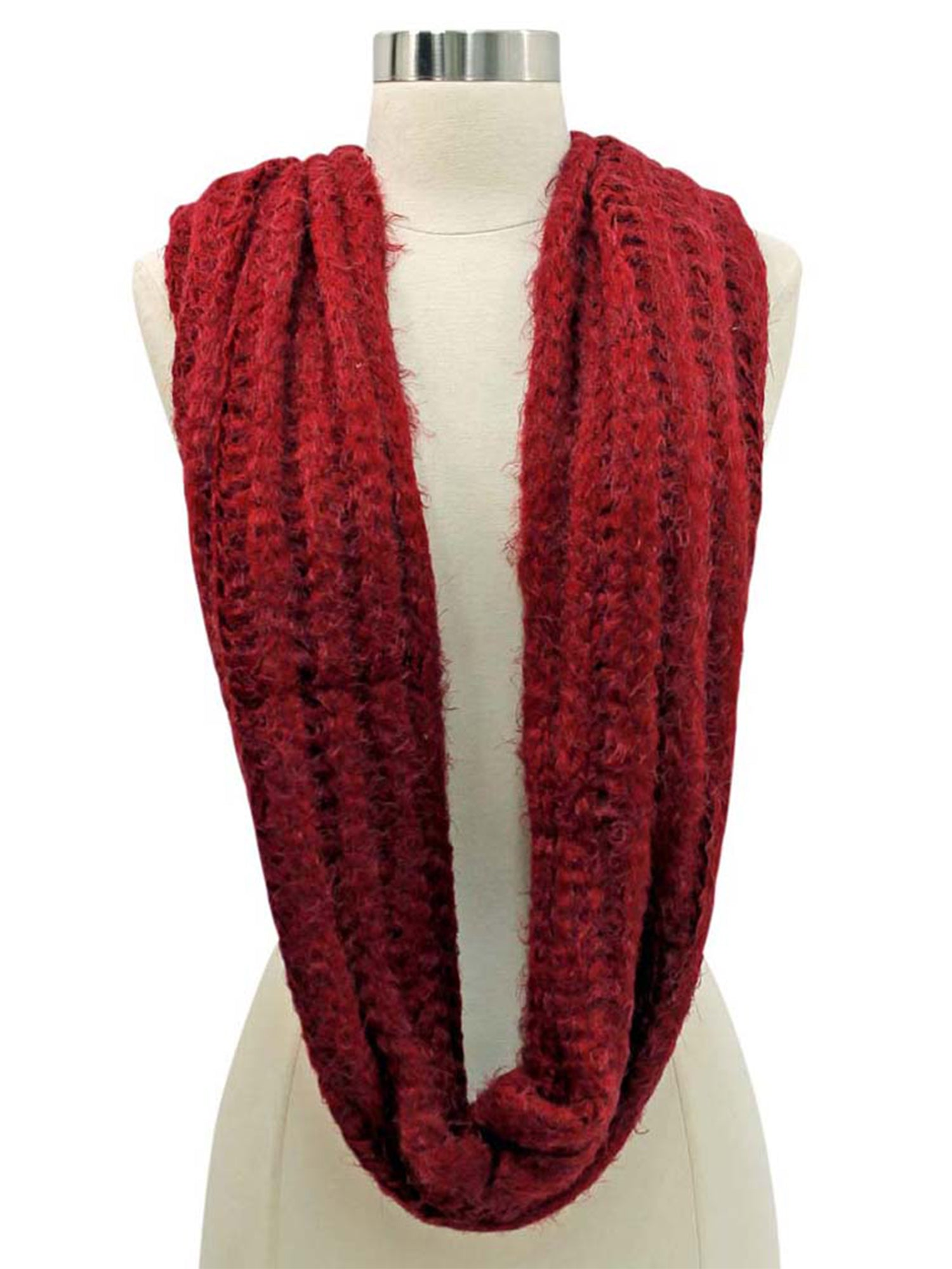 Eyelash Knit Soft Fuzzy Infinity Scarf – Luxury Divas