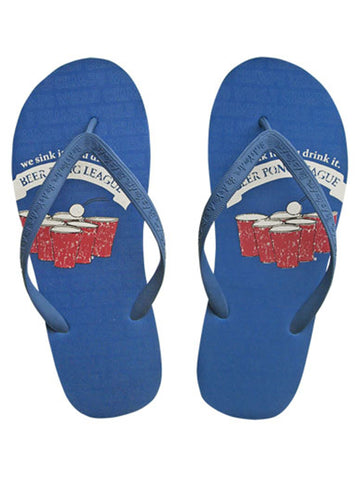 Beer Pong League Men's Novelty Flip Flops