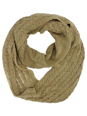 Thick Cable Knit Unisex Infinity Winter Scarf