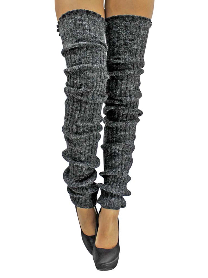 Slouchy Thigh High Knit Dance Leg Warmers