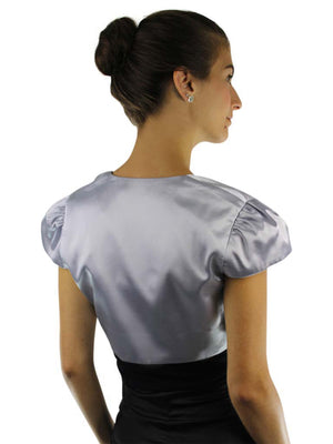 Short Sleeve Satin Bolero Shrug Jacket