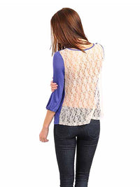 Top With Lace Back Detail