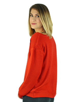 Long Sleeve Slouchy Loose Fit Open Knit Sweater