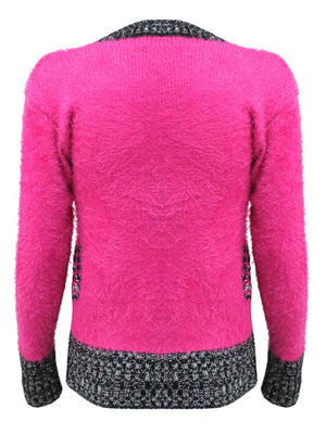 Pullover Sweater With Contrasting Pattern