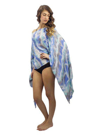 Colorful Tie Dye Lightweight Poncho Beach Cover Up
