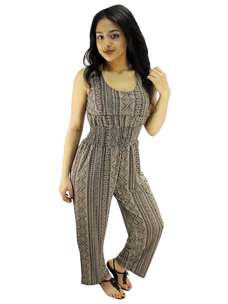 Pink Aztec Tribal Print Summer Jumpsuit