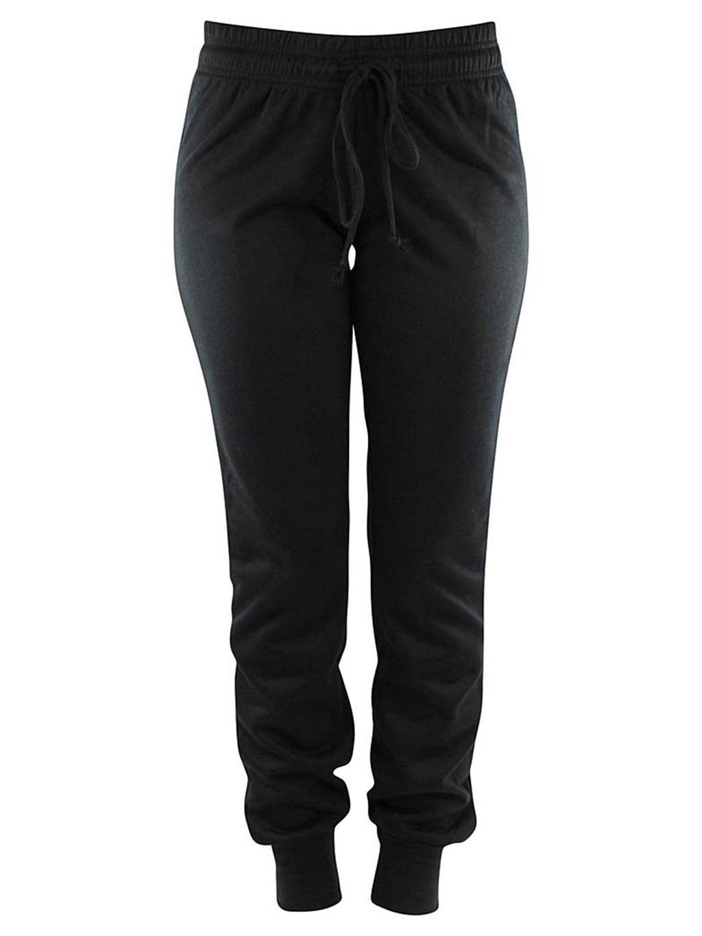 Drawstring Womens Jogger Exercise Sweatpants