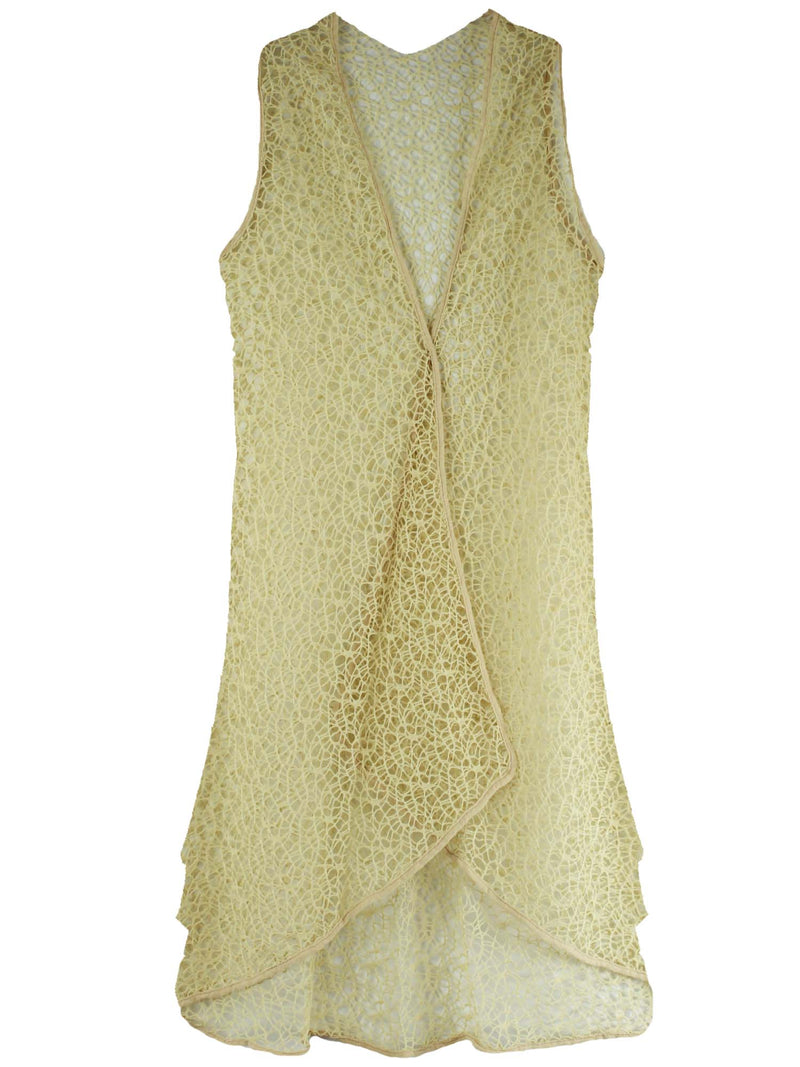 Long Mesh Vest Beach Cover Up For Swimsuit