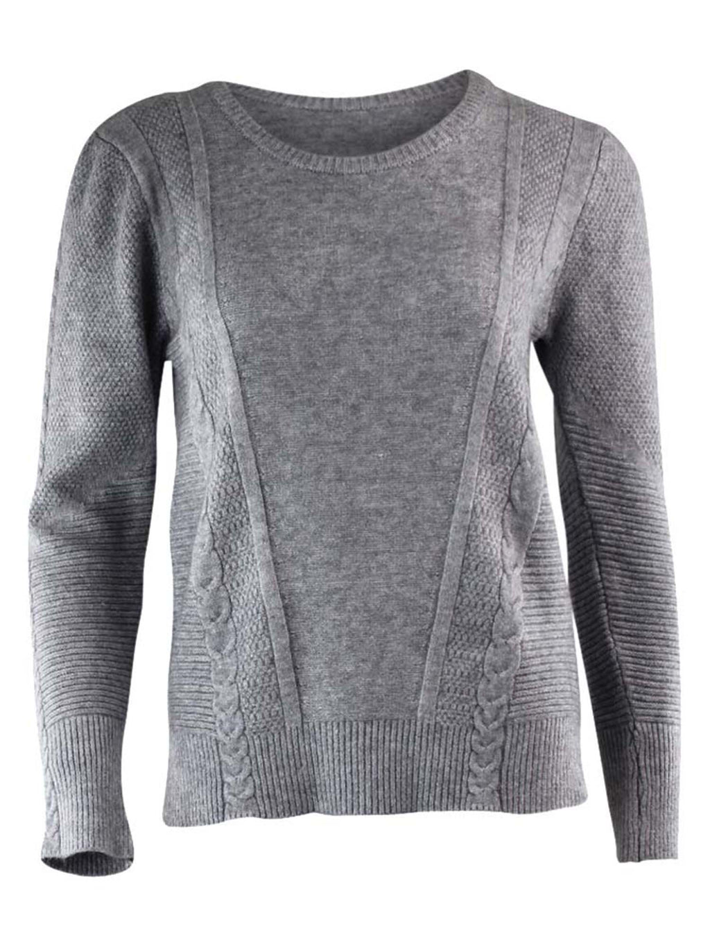 Soft Cable Knit Crew Neck Sweater