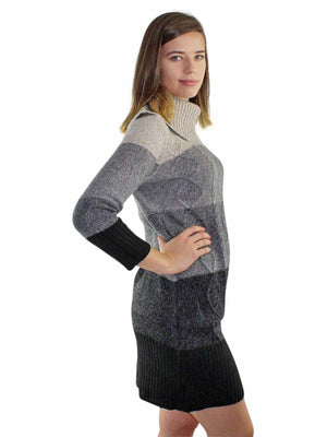 Lush Long Sleeve Cable Knit Sweater Dress