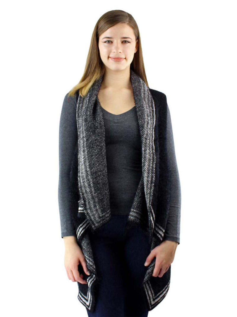 Classic Knit Shawl Sweater Vest