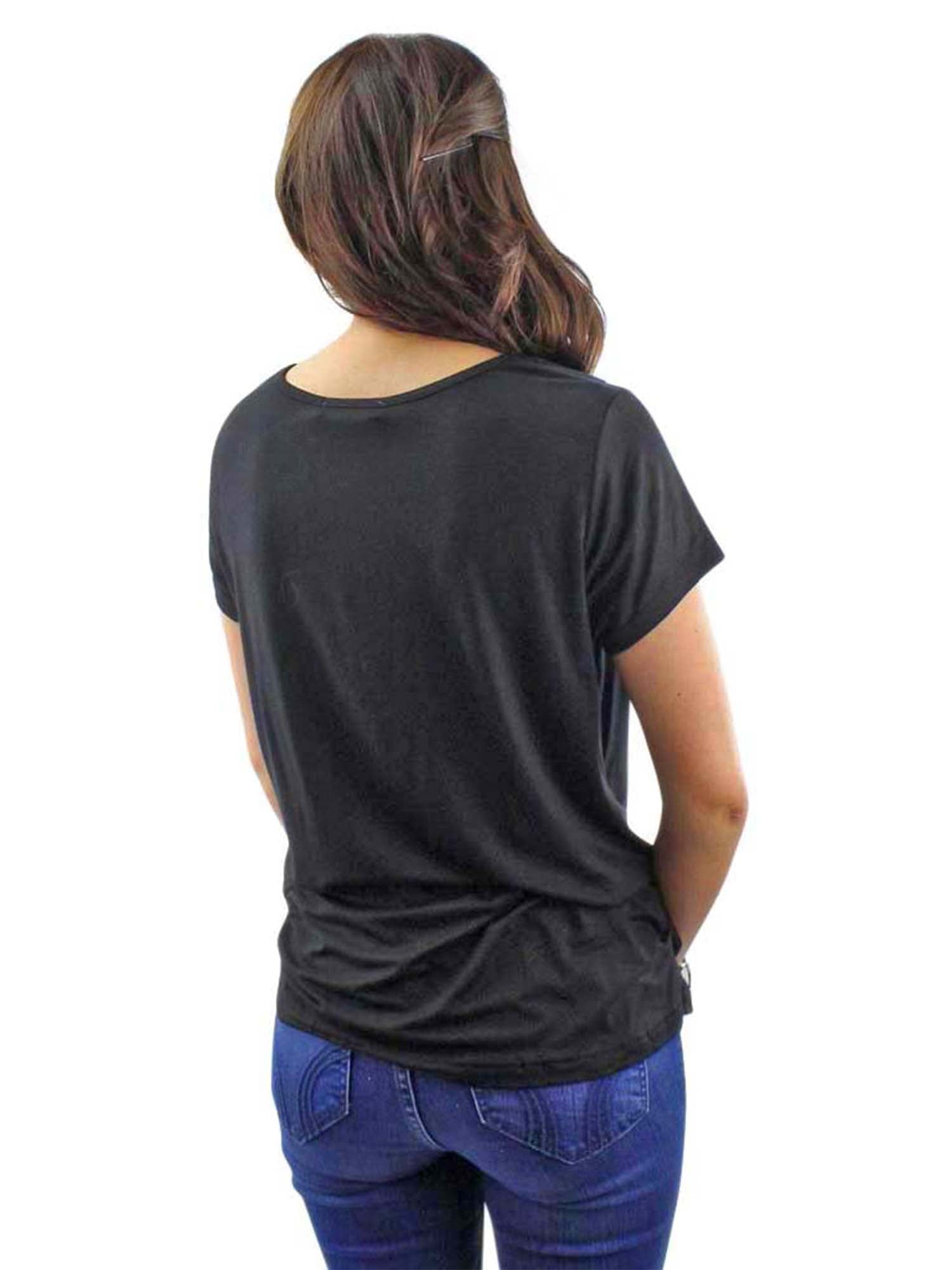 Black Lightweight Knotted Front Tee