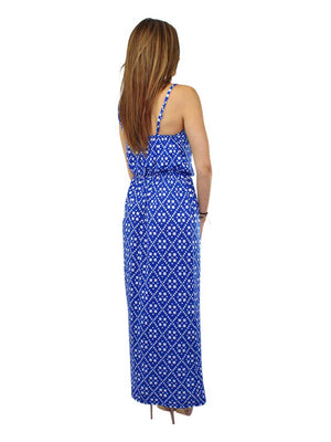 Spaghetti Strap Maxi Sundress With Abstract Print