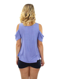 Cold Shoulder Short Sleeve Top