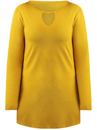 Mustard Jersey Knit Tunic Top