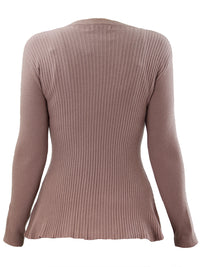 Mauve Pink Swing Hemline Womens Sweater