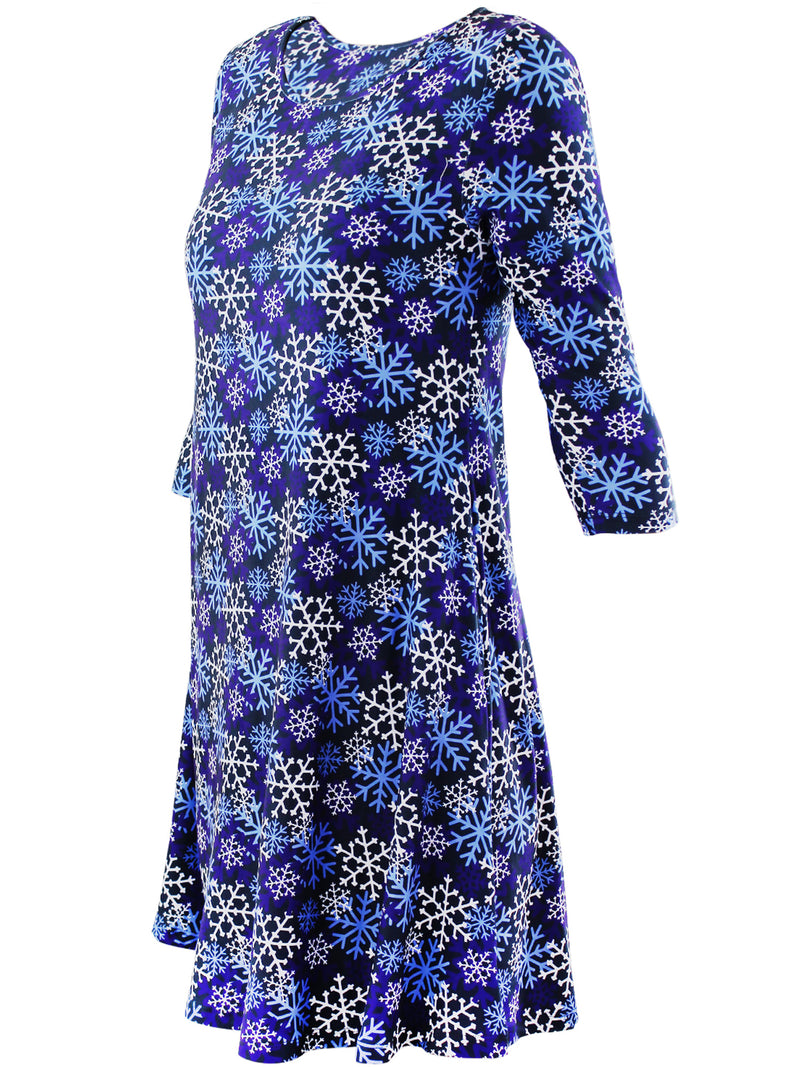 Snowflake Christmas Holiday Swing Dress