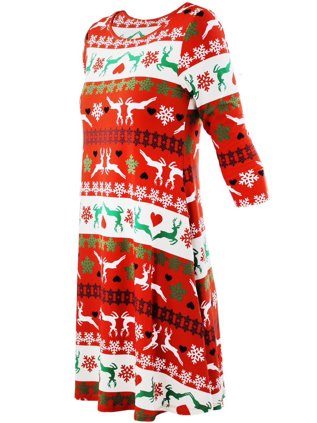 Reindeer Holiday Christmas Swing Dress