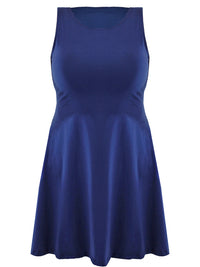 Womens Plus Size Navy Blue Swing Dress