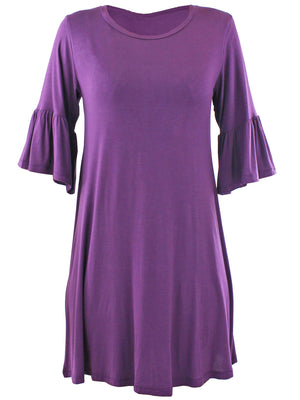 Plum Purple Womens Swing Dress