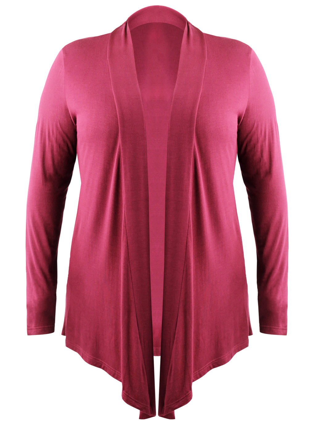 Burgundy Plus Size Womens Open Front Cardigan