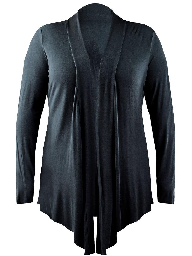 Black Plus Size Womens Open Front Cardigan