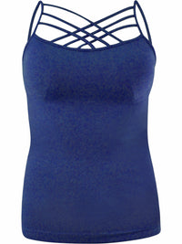 Plus Size Womens Navy Blue Spaghetti Strap Camisole