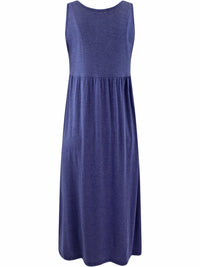 Purple Sleeveless Maxi Sun Dress