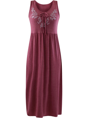Mauve Pink Sleeveless Maxi Sun Dress