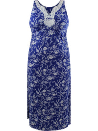 Royal Blue Plus Size Sleeveless Dress